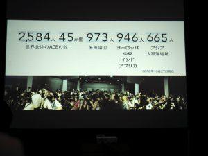 世界中で活躍されているADEの人数