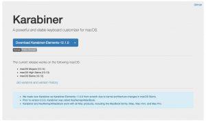 Karabinerダウンロードサイトのイメージ