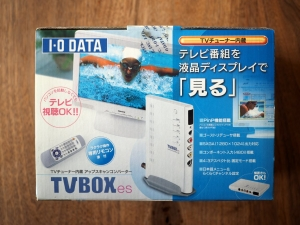 TVBOXesの外箱(正面)