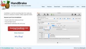 HandBrakeダウンロードサイト