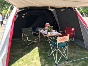 コールマンのテントとかイス