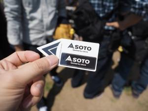 SOTOの公式インスタをフォローしたら貰えたステッカー。