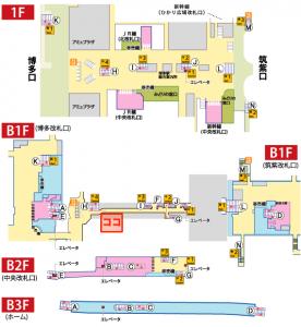 地図は福岡市交通局さんのサイトから拝借しました。
