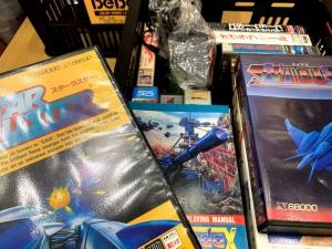 持ち寄られたゲームの数々。箱まで綺麗に保管されているのが凄い。
