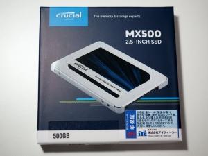 CrucialのMX500。このシリーズはコスパいいですよね。