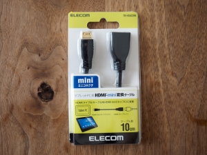 エレコムの変換ケーブル「TB-HDAC2BK」。ケーブル買うより安かったので。