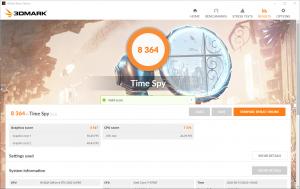 ベンチマーク専用ソフト3DMark。無料で使用できる「Time Spy」で計測しました。