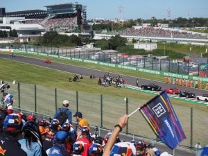 決勝前に行われたドライバーズパレード。
