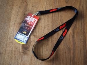 こちらが観戦チケット。プラスチック製でデザインも数十種類の中から選べました。