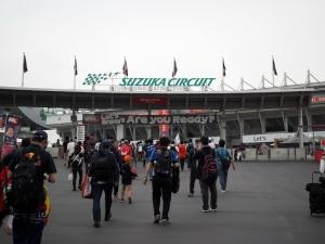 コースそばのGPエントランスへ。高まる。