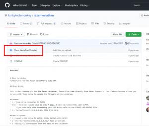 GitHubにあるファームウェア。赤枠のところからダウンロード。